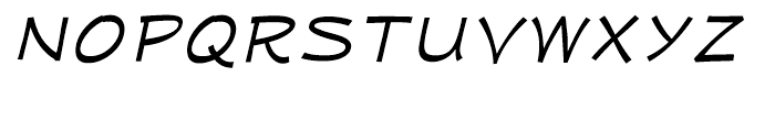 Mufferaw Expanded Italic Font UPPERCASE
