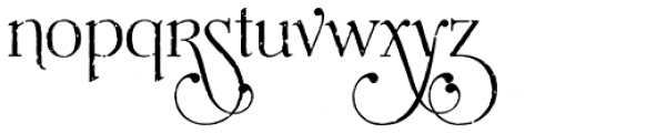 Mussica Antiqued Swash Font LOWERCASE