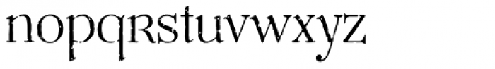 Mussica Antiqued Font LOWERCASE