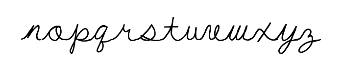 My First Ft Font LOWERCASE