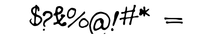 MyHandwriting Font OTHER CHARS