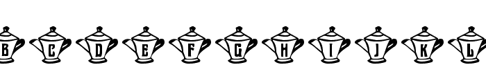 mzw teaparty Font UPPERCASE