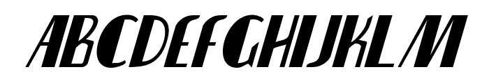 Nathan Brazil Condensed Italic Font LOWERCASE