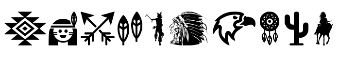 Native American Indians Font OTHER CHARS