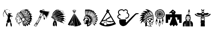 Native American Indians Font UPPERCASE
