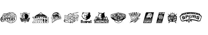 NBA WEST Font LOWERCASE