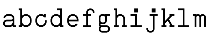 NB Typewriter Regular Font LOWERCASE