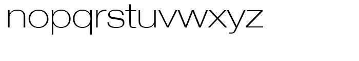 Neue Helvetica 33 Thin Extended Font LOWERCASE