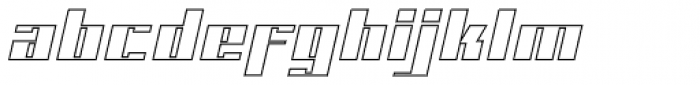 NEW Outline Font LOWERCASE