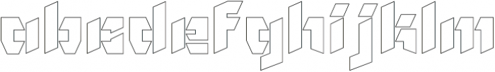 NF Gothic Outline otf (400) Font LOWERCASE