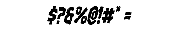 Nightmare Alley Condensed Italic Font OTHER CHARS