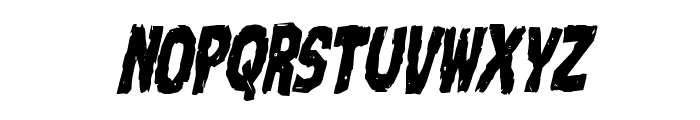 Nightmare Alley Condensed Italic Font LOWERCASE