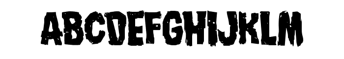 Nightmare Alley Staggered Font UPPERCASE