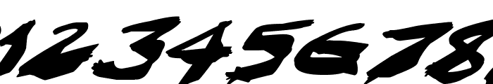 Nightmare Ink Italic Font OTHER CHARS