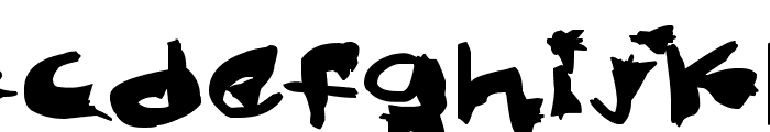 Nightmare Ink Font LOWERCASE
