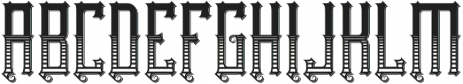 Northwood Texture And Shadow otf (400) Font UPPERCASE