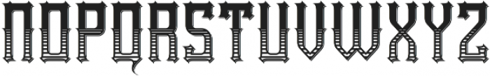 Northwood Texture And Shadow otf (400) Font LOWERCASE