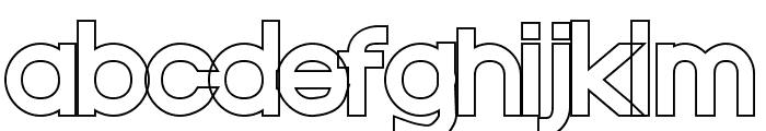 Nordica Classic Regular Extended Outline Font LOWERCASE