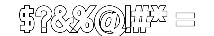 Nordica Classic Regular Outline Font OTHER CHARS