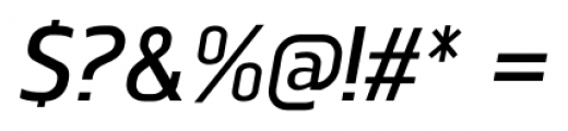 Norpeth DemiBold Italic Font OTHER CHARS