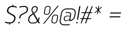 Norpeth Italic Font OTHER CHARS