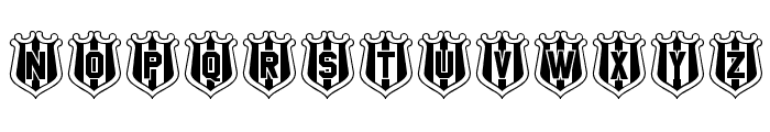 NUFC Shield Font LOWERCASE