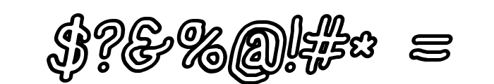 NumbBunny Black Outline Italic Font OTHER CHARS