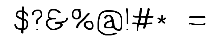 NumbBunny Wide Font OTHER CHARS
