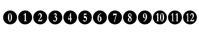Numberpile Font UPPERCASE