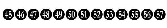Numberpile Font LOWERCASE