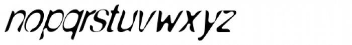 Nud E Anorexic Italic Font LOWERCASE