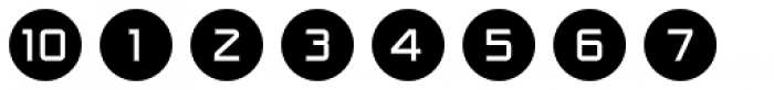 Numbers Style One-Circle Negative Font OTHER CHARS