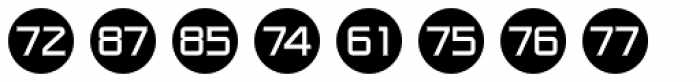Numbers Style One-Circle Negative Font UPPERCASE