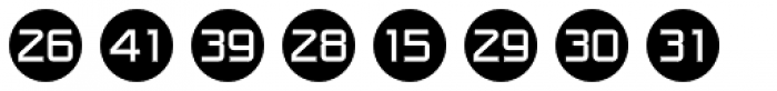 Numbers Style One-Circle Negative Font LOWERCASE