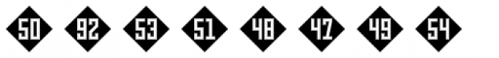 Numbers Style Three-Diamond Negative Font OTHER CHARS