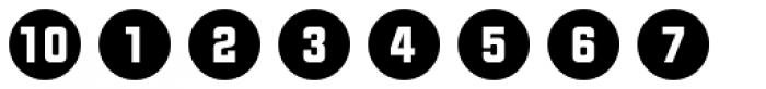 Numbers Style Two-Circle Negative Font OTHER CHARS