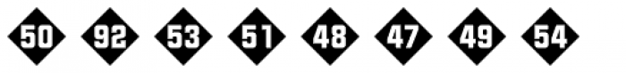 Numbers Style Two-Diamond Negative Font OTHER CHARS