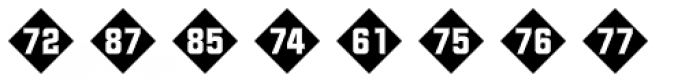 Numbers Style Two-Diamond Negative Font UPPERCASE