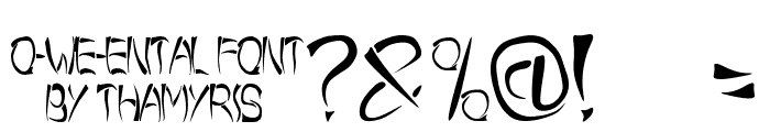 o-wee-ental Font OTHER CHARS