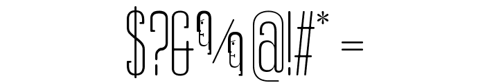 Obcecada-Serif Font OTHER CHARS