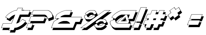 Oberon Deux Shadow Italic Font OTHER CHARS