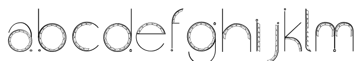 Obscura Font LOWERCASE