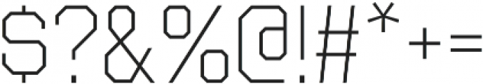 Octin College Light otf (300) Font OTHER CHARS
