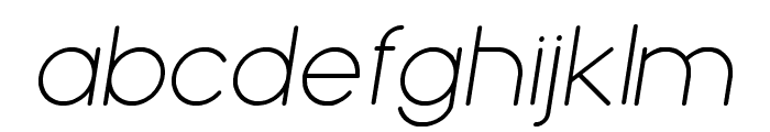 Occupied Italic Font LOWERCASE