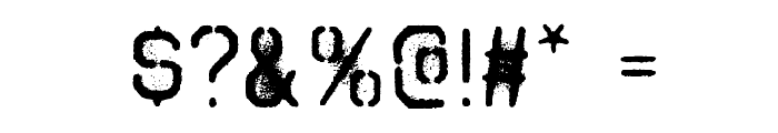 Octin Spraypaint Free Font OTHER CHARS