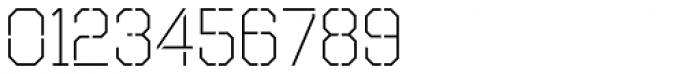 Octin Stencil Light Font OTHER CHARS