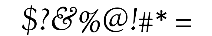 OFL Sorts Mill Goudy Italic TT Font OTHER CHARS