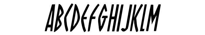 Oh Mighty Isis Condensed Italic Font UPPERCASE