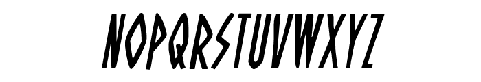 Oh Mighty Isis Condensed Italic Font LOWERCASE