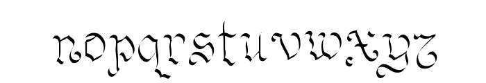 OhMyGoth Font LOWERCASE